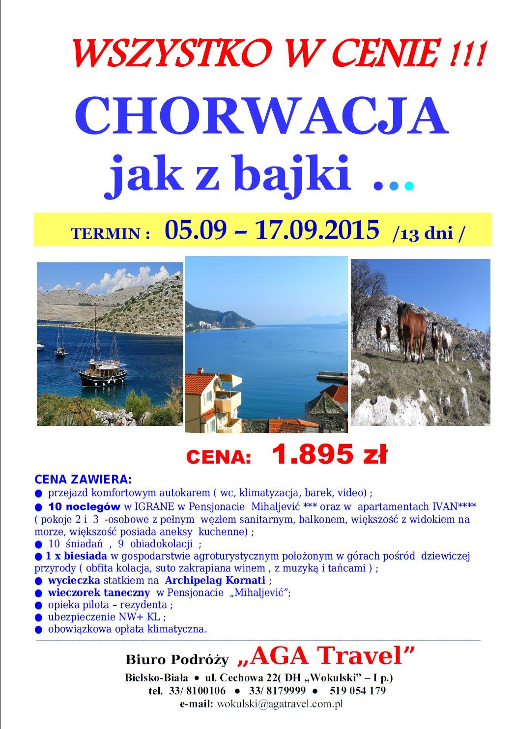 urlop w chorwacji 2016 2016 lato